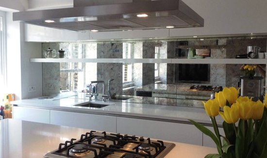 Kitchen 01 - Mirrored Splashbacks