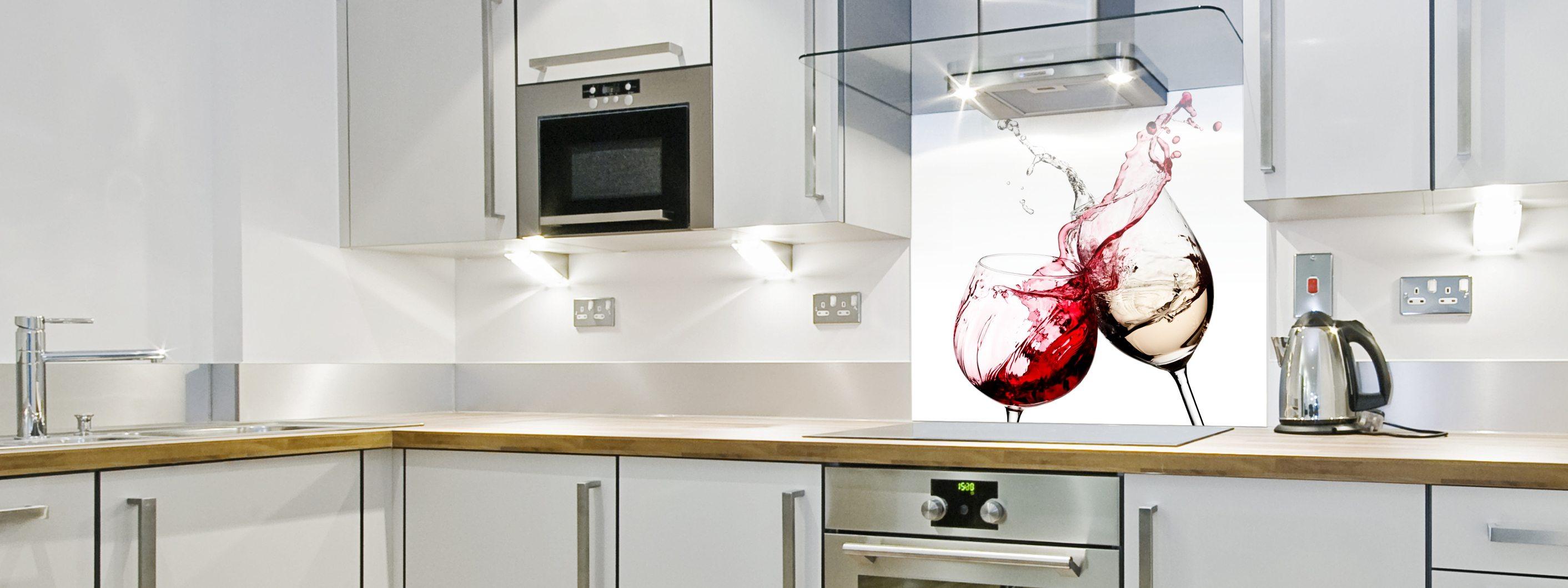 Red Wine Cheers - Printed Splashback
