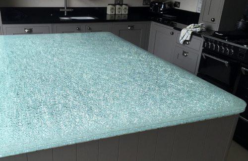 Crackle Glass Worktop