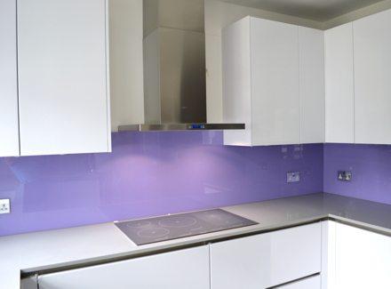 Lilac Glass Splashbacks
