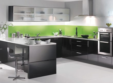 Green Glass Splashbacks