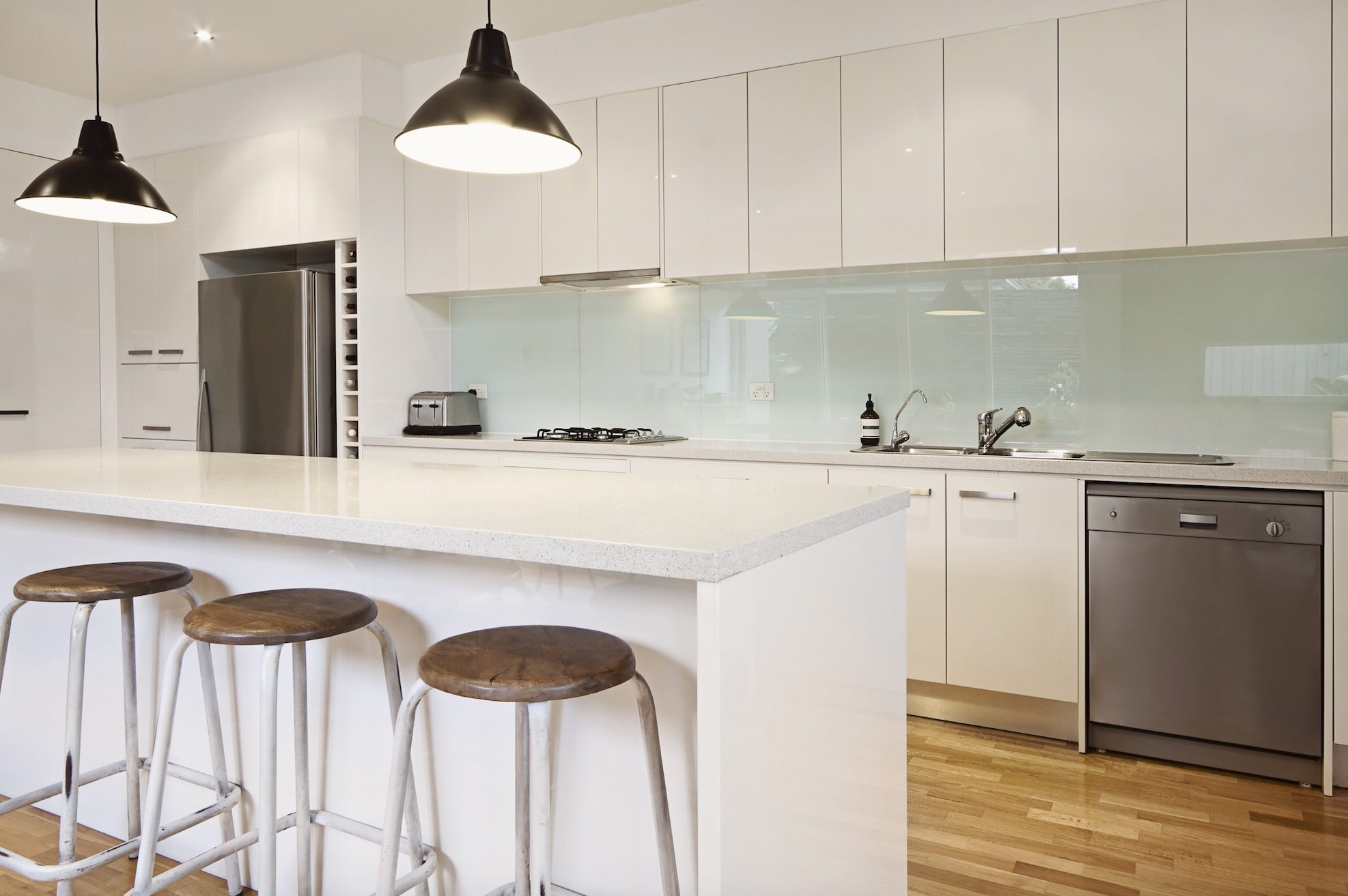 kitchen-glass-splashbacks White Glass Panel Interior Doors