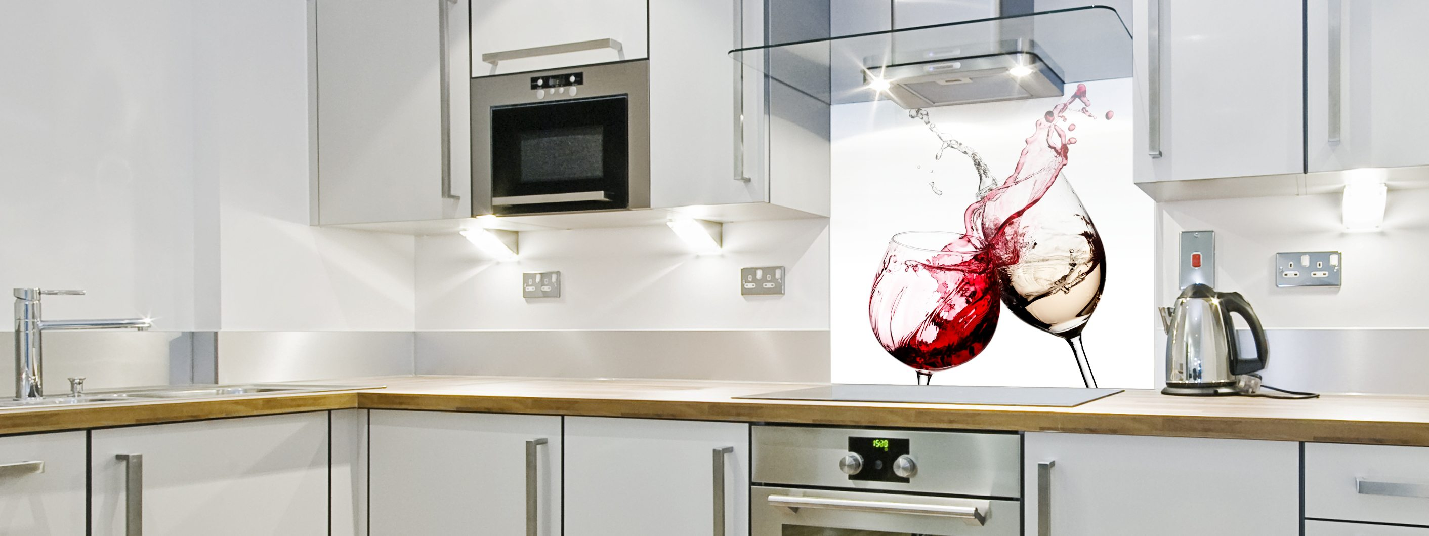 Red Wine Cheers - Printed Splashback