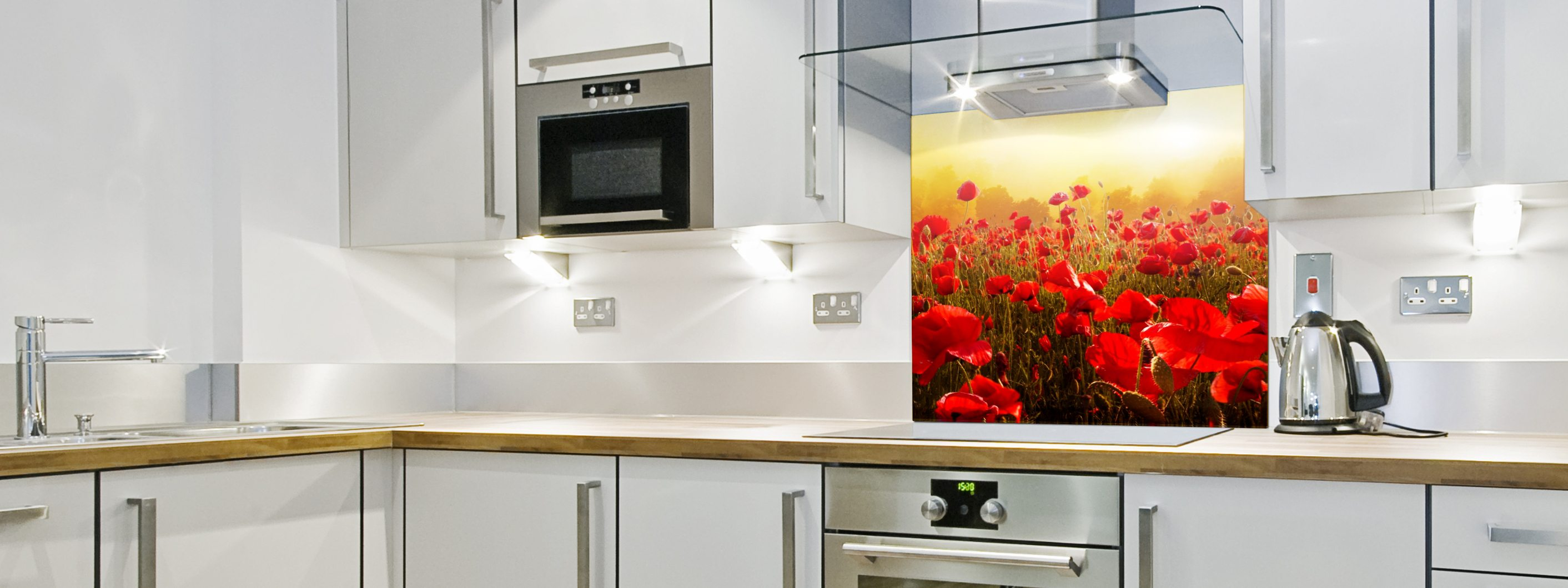 Sunset Poppies - Printed Splashback 3