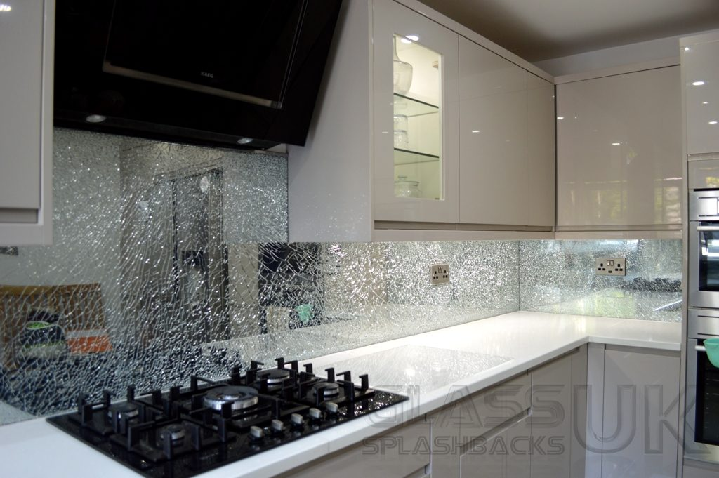 Crackle Glass Splashbacks