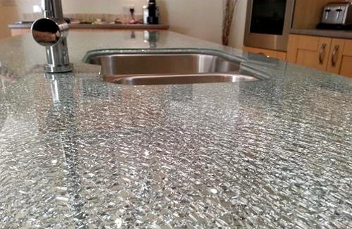 Crackle Glass Worktops