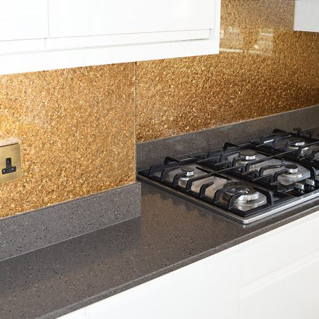Deep Gold Premium Textured Splashback